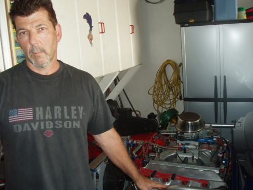 Kevin w/ his HEMI built by Submission Engines