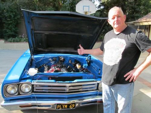 Completed RESTO by US!! Bill with his '69 Roadrunner