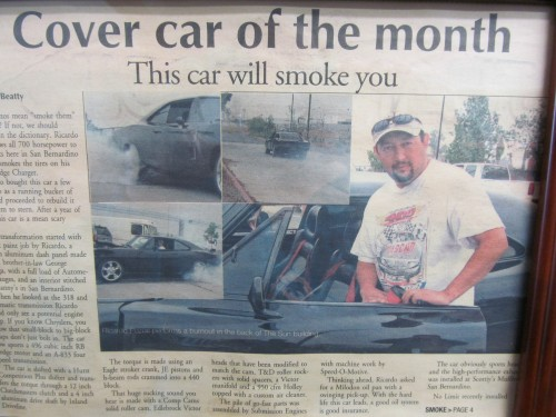 """The Sun Paper """"Cover Car of the Month"""" Engine by....US!"""